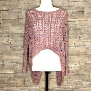 Material Girl multicolour crochet-knit top